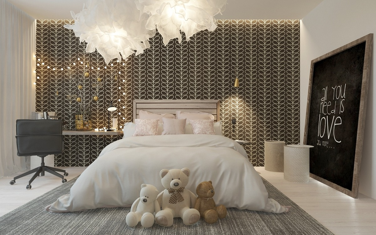A Pair Of Childrens Bedrooms With Sophisticated Themes on Room Decor Ideas id=46705