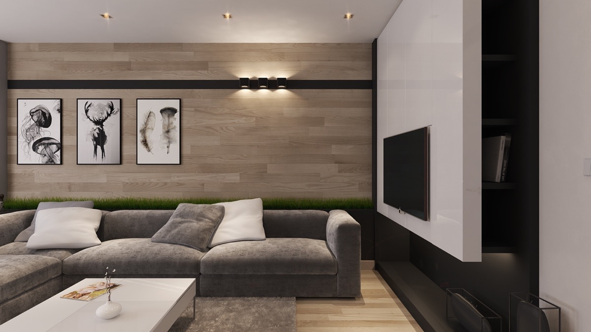 living room wall covering ideas a tour of 4 homes with comfortable wood wall treatments 20148