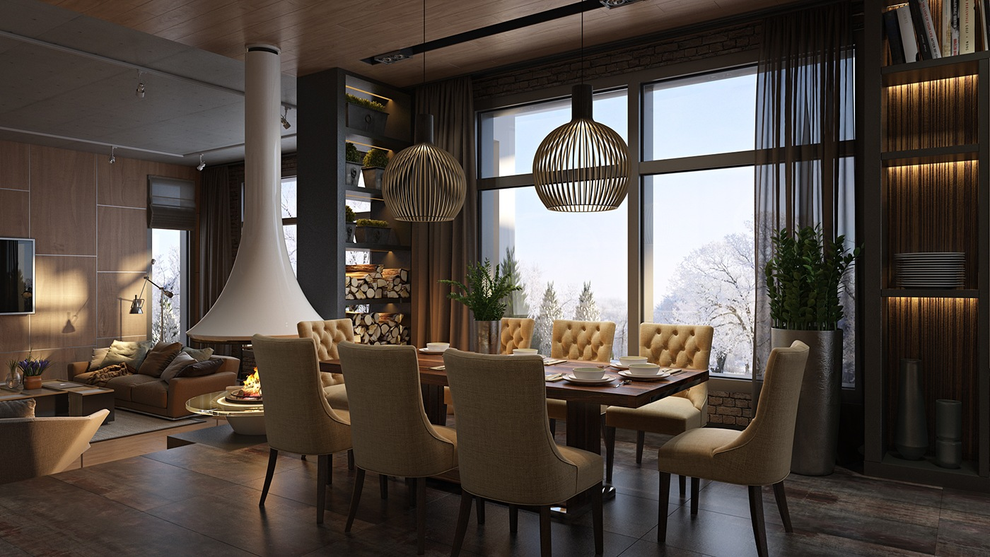 luxurious dining rooms | 3 Luxury Homes Taking Different Approaches To Wall Art