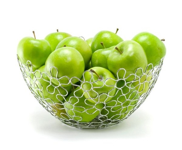It Chrome Flower Fruit Bowl