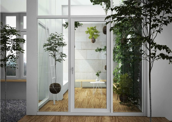 The home is alive with creative indoor plant inspiration here strings hold trees and plants aloft by their root balls which are covered in mud for
