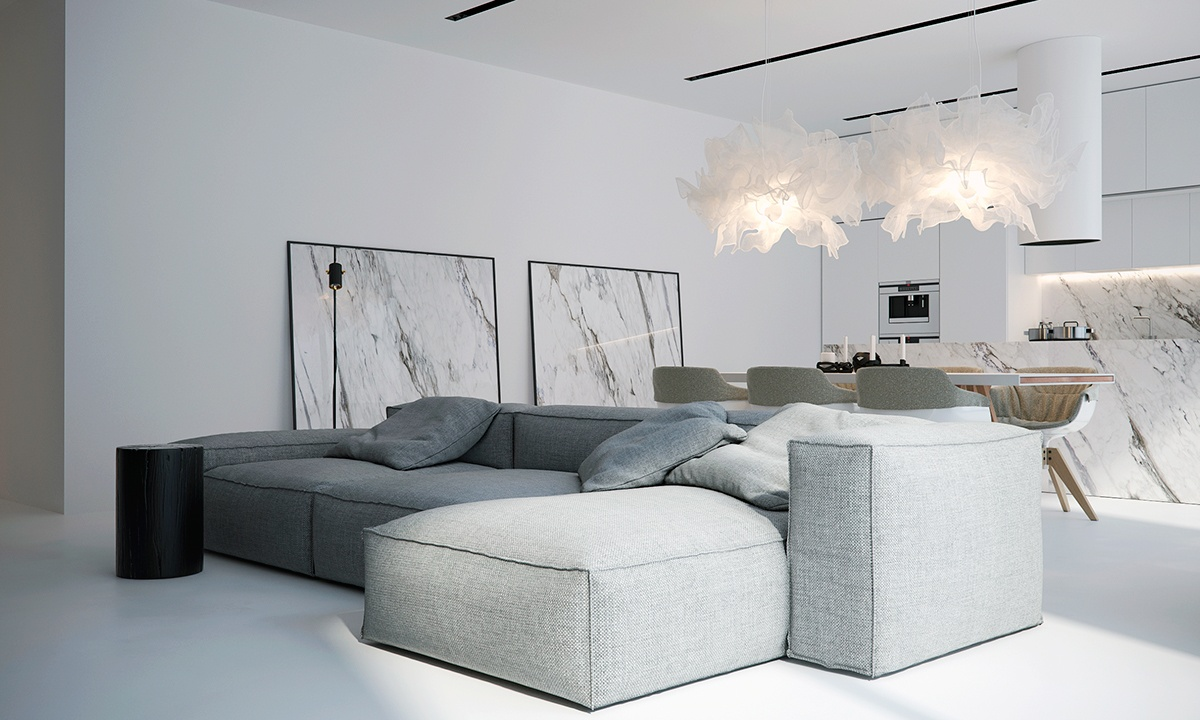 white living room design | White Minimalist Spaces That Will Make You Forget All ...