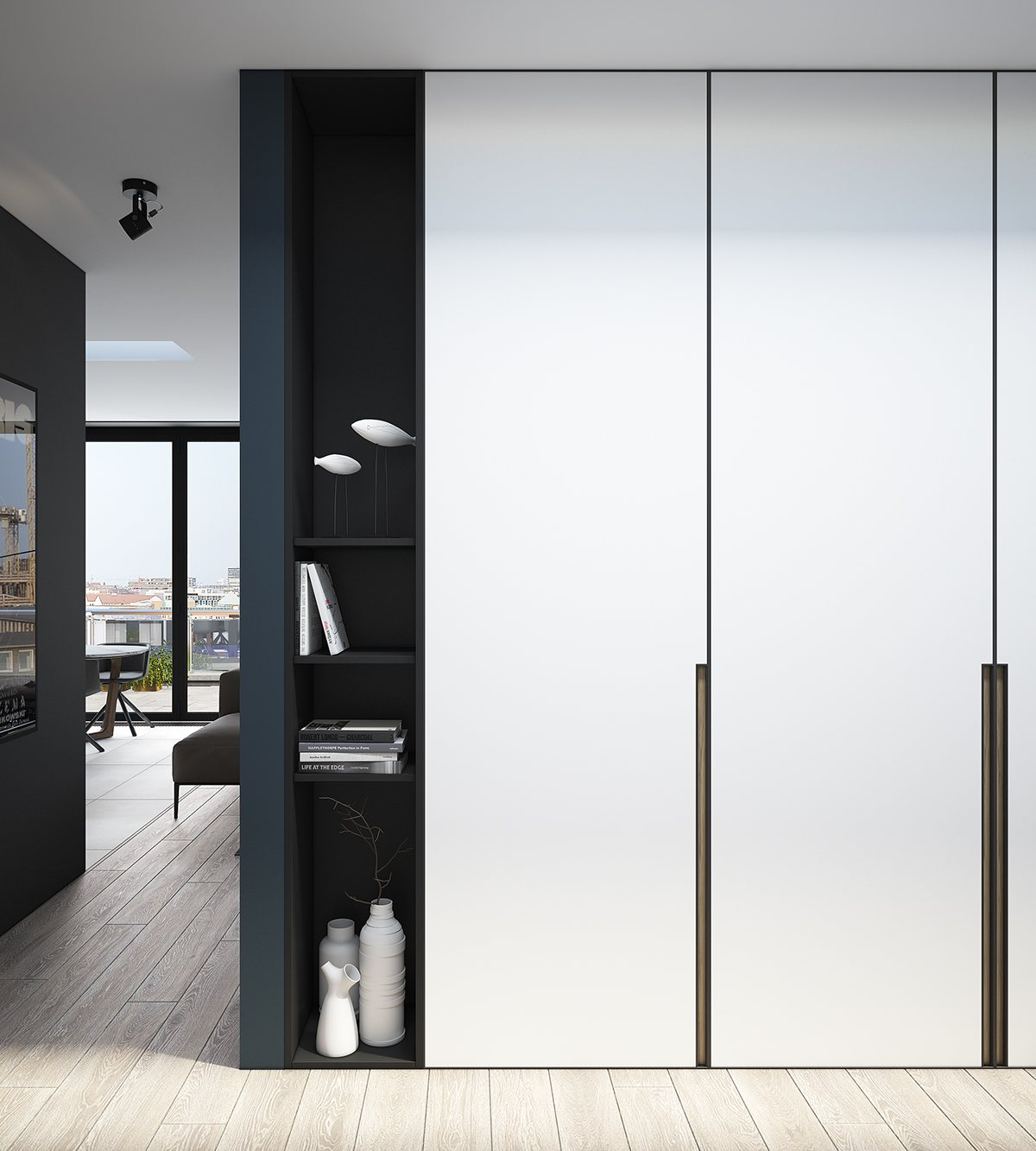 Coat Storage Ideas Design A Chic Modern Space Around A Brick Accent Wall