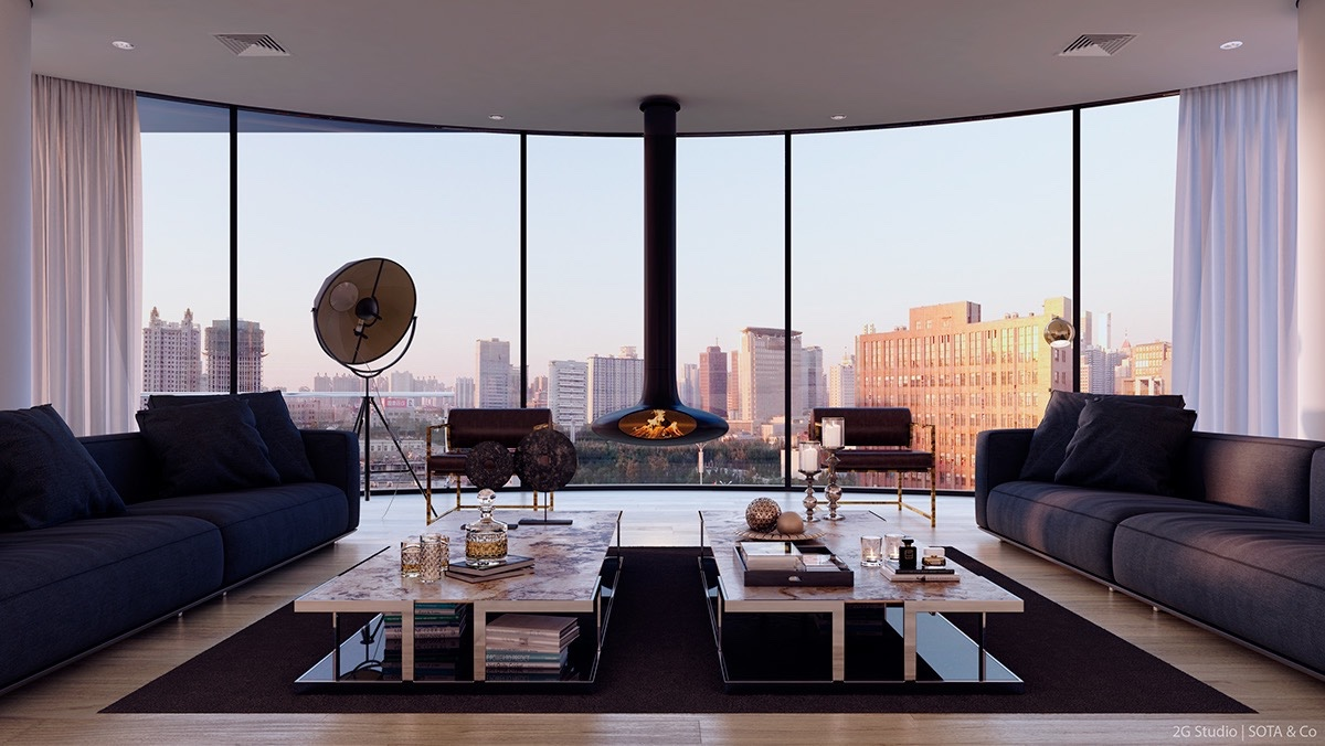 luxurious inspiring penthouses rh home designing com