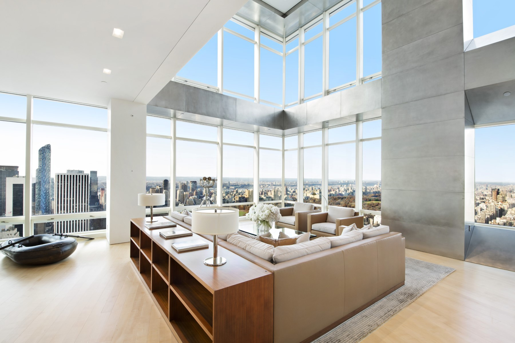 cool modern luxury penthouse living room | Luxurious & Inspiring Penthouses