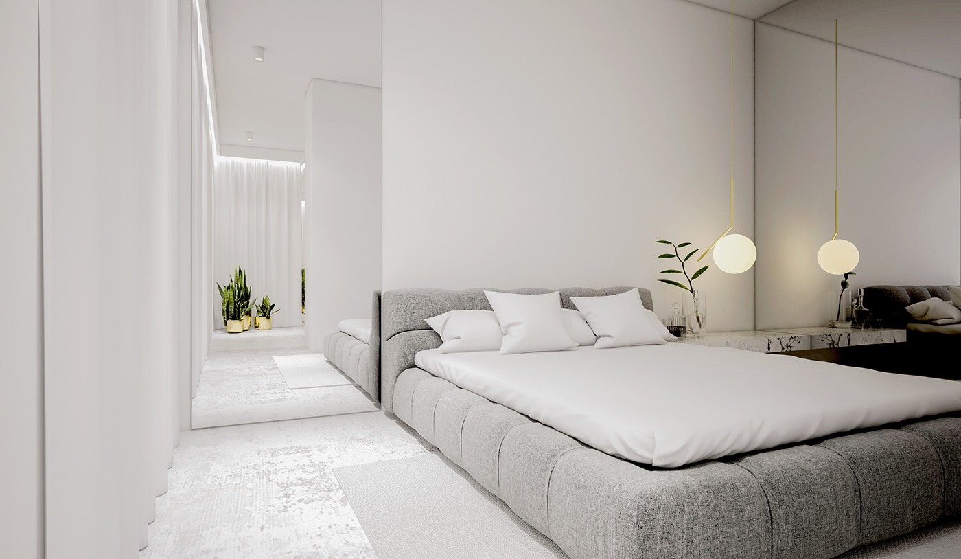 white minimalist spaces that will make you forget all 13820 | stunning all white bedroom