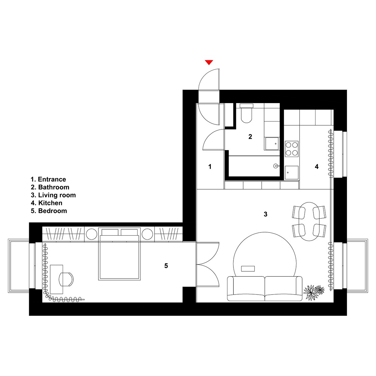 2 Well Rounded Home Designs Under 600 Square Feet