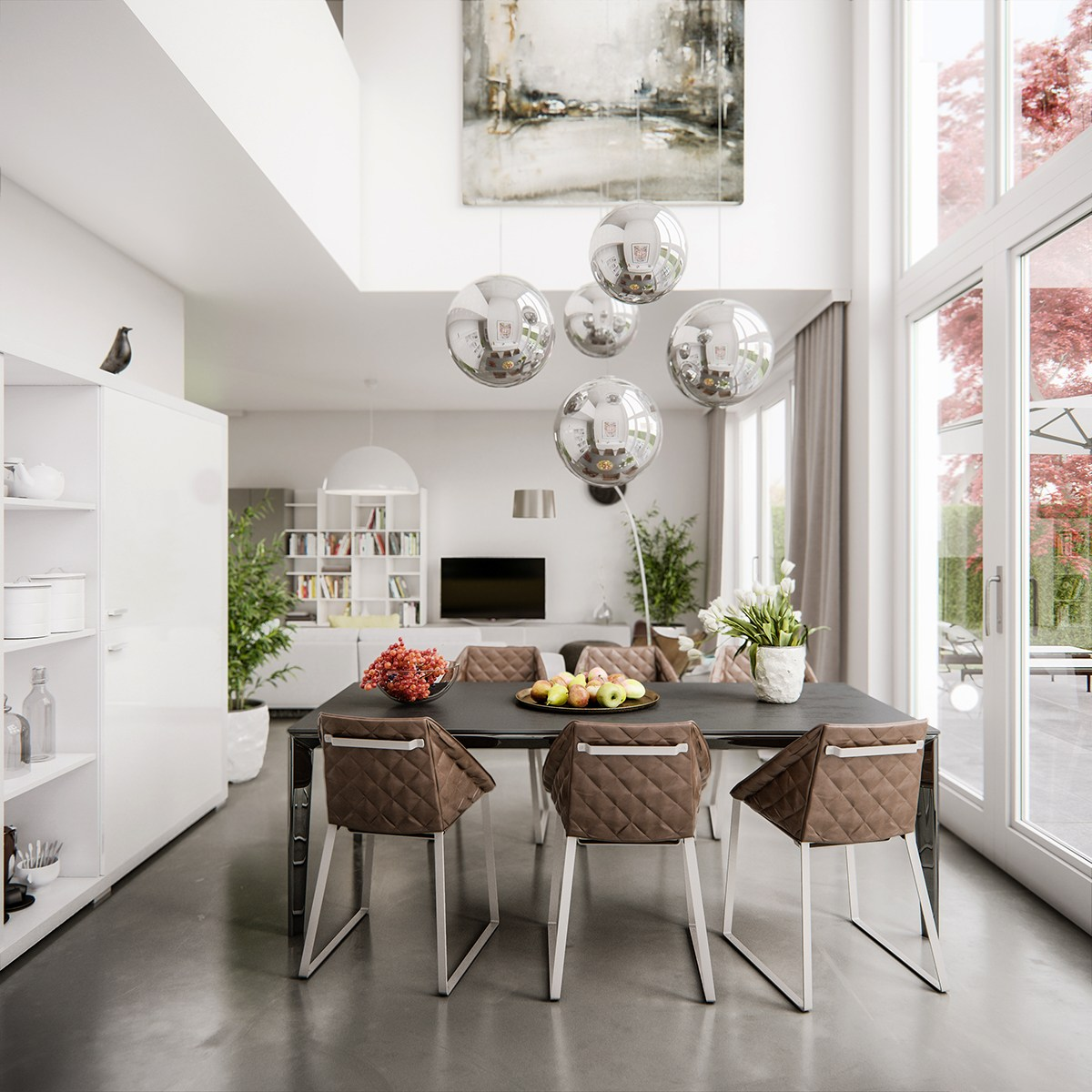 Dining Room: 5 Living Rooms That Demonstrate Stylish Modern Design Trends