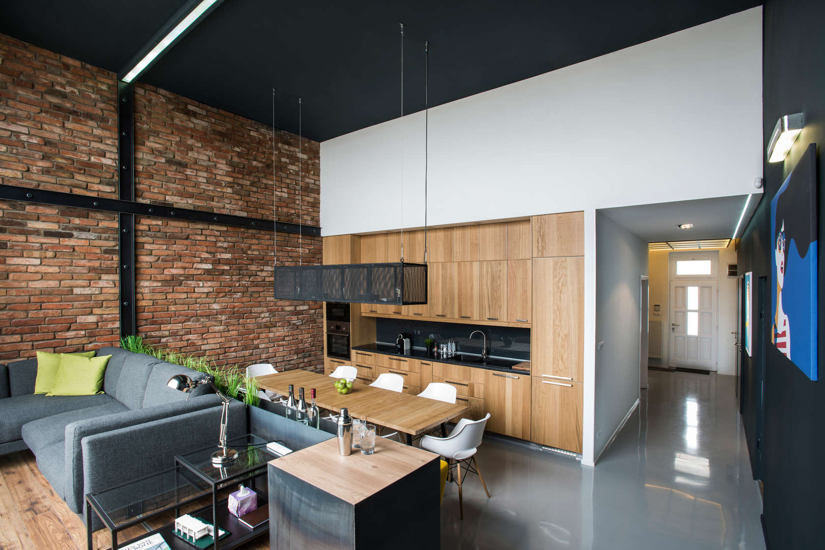 Designing Kitchen Cabinets Modern Loft With Surprising Elements