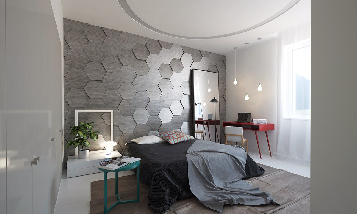 bedroom wall designs homes with inspiring wall treatments and designer lighting 10733