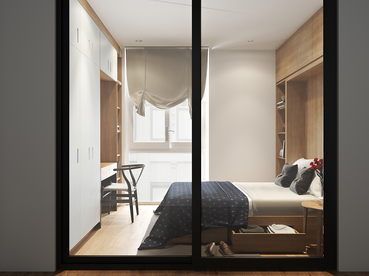 compact bedroom design.  Sophisticated Small Bedroom Designs