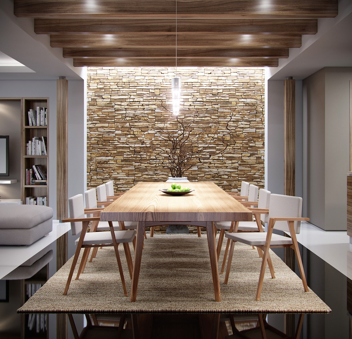 Modern Dinning Rolm Accent Wall: The Natural Side Of Neutral Color Palettes: 5 Inspiring Homes