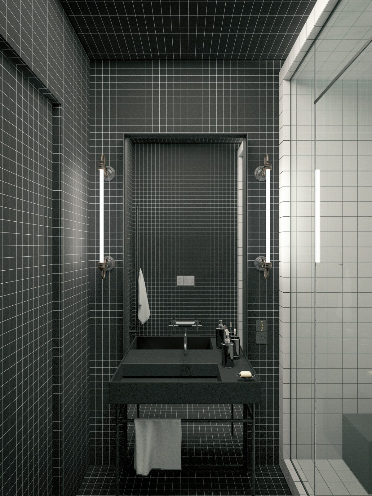 Modern Bathroom By Homify Modern: Modern Decor Meets Classical Features In Two Transitional
