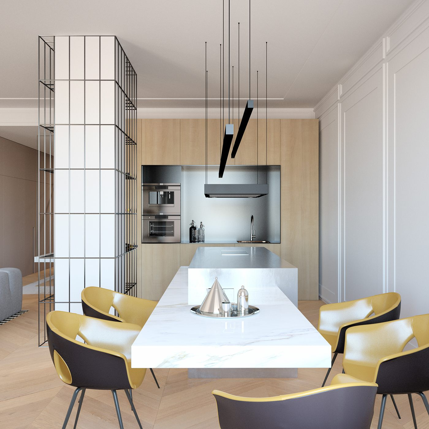 4 Elements Could Bring Out Traditional Kitchen Designs: Modern Decor Meets Classical Features In Two Transitional