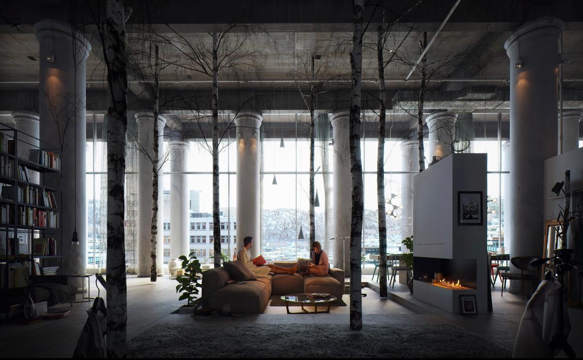 modern incredible living room | 40 Incredible Lofts That Push Boundaries