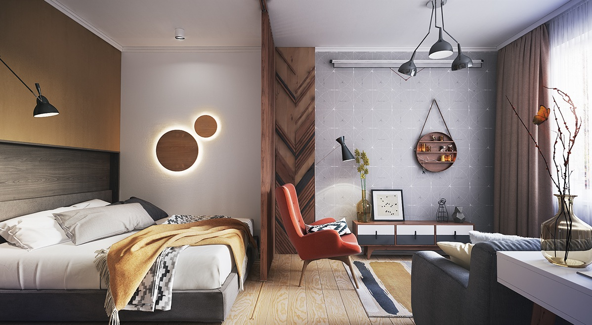 Four small studios that explore fun and whimsical styles - Small studio apartment layout ...