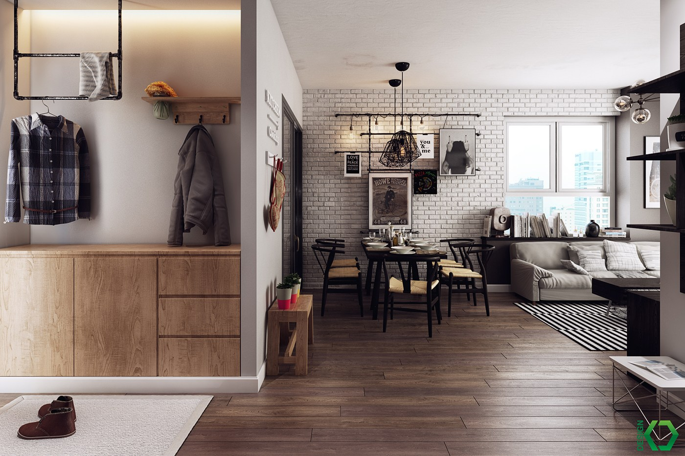One Bedroom Apartment Floor Plans A Charming Eclectic Home Inspired By Nordic Design