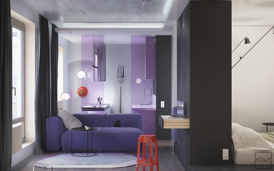 Small Apartments That Go With Bold Decor Themes