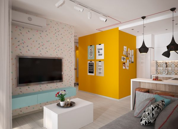 Colour Blocking Creating Room In Small Spaces