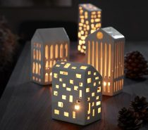 Kahler Urbania Ceramic Tea Light Houses: What a charming little city! These ceramic buildings model after modern residential architecture, with a few based on iconic historical structures like the Pantheon and Basilica.