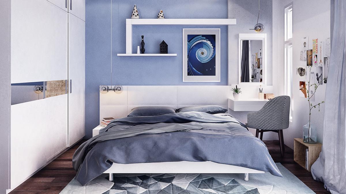 Cornflower Blue Bedroom Theme