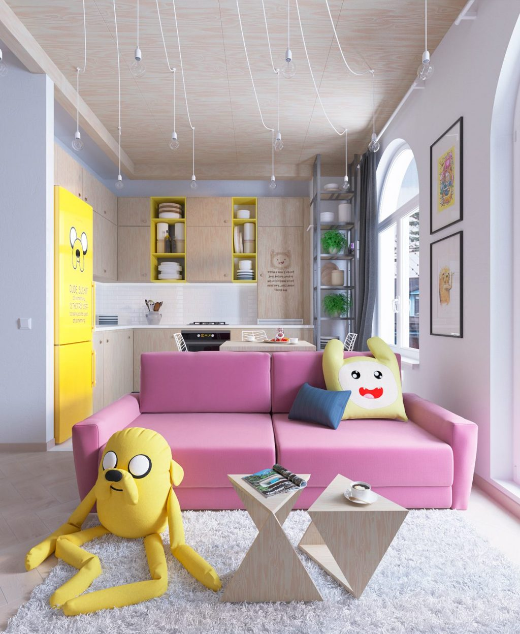 Bright Homes In Three Styles: Pop Art, Scandinavian, And