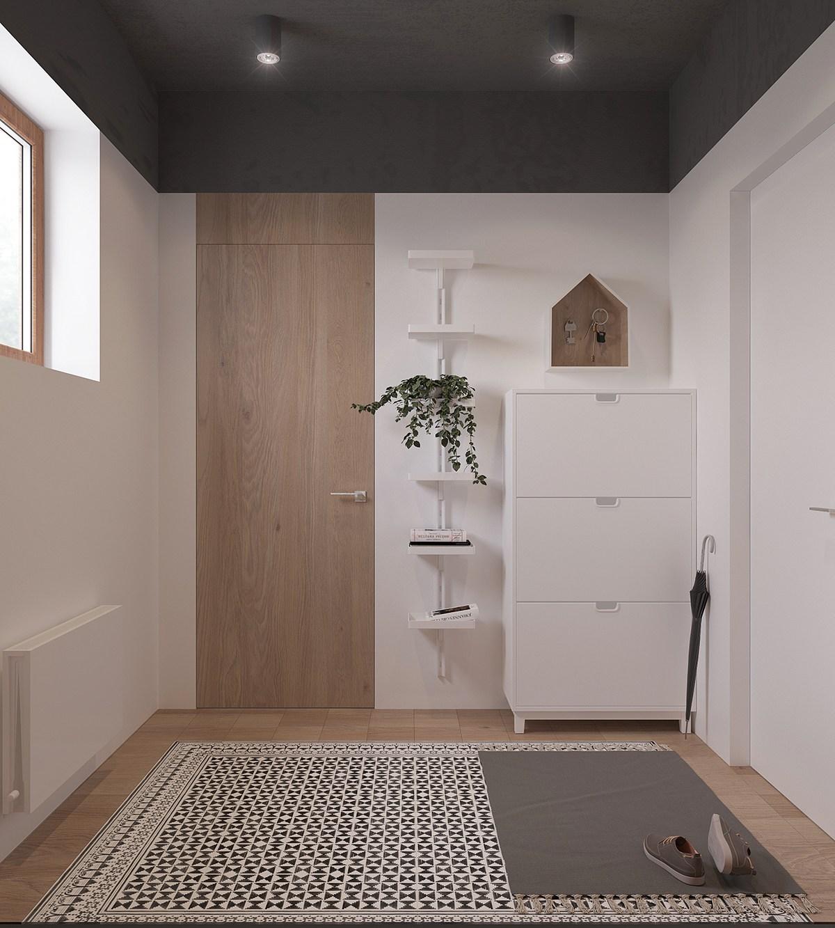 a sleek and surprising interior inspired by scandinavian modernism. Black Bedroom Furniture Sets. Home Design Ideas