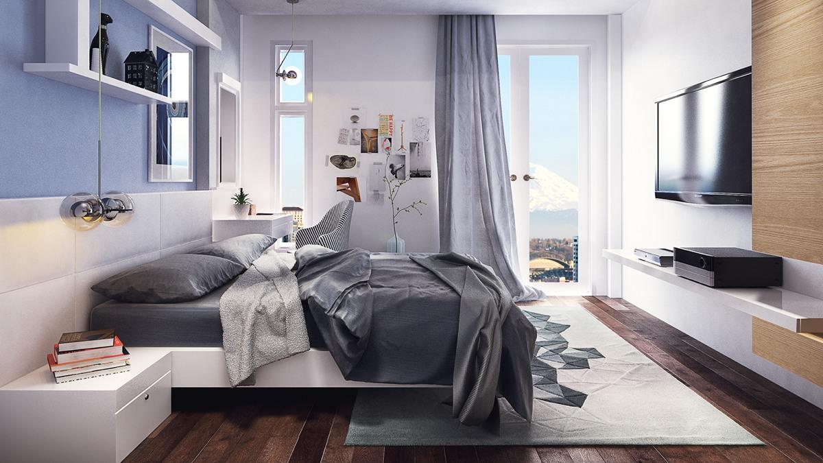 Light Blue Bedroom Color Palette Interior Design Ideas