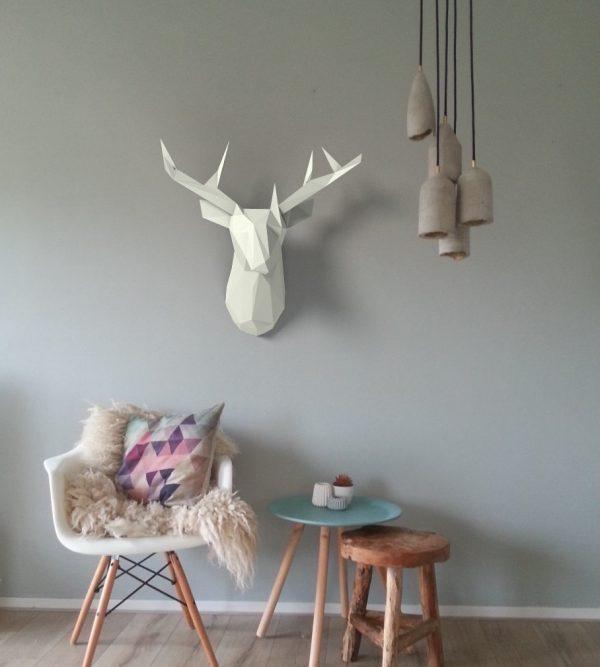 Faux Deer Head Home Decor