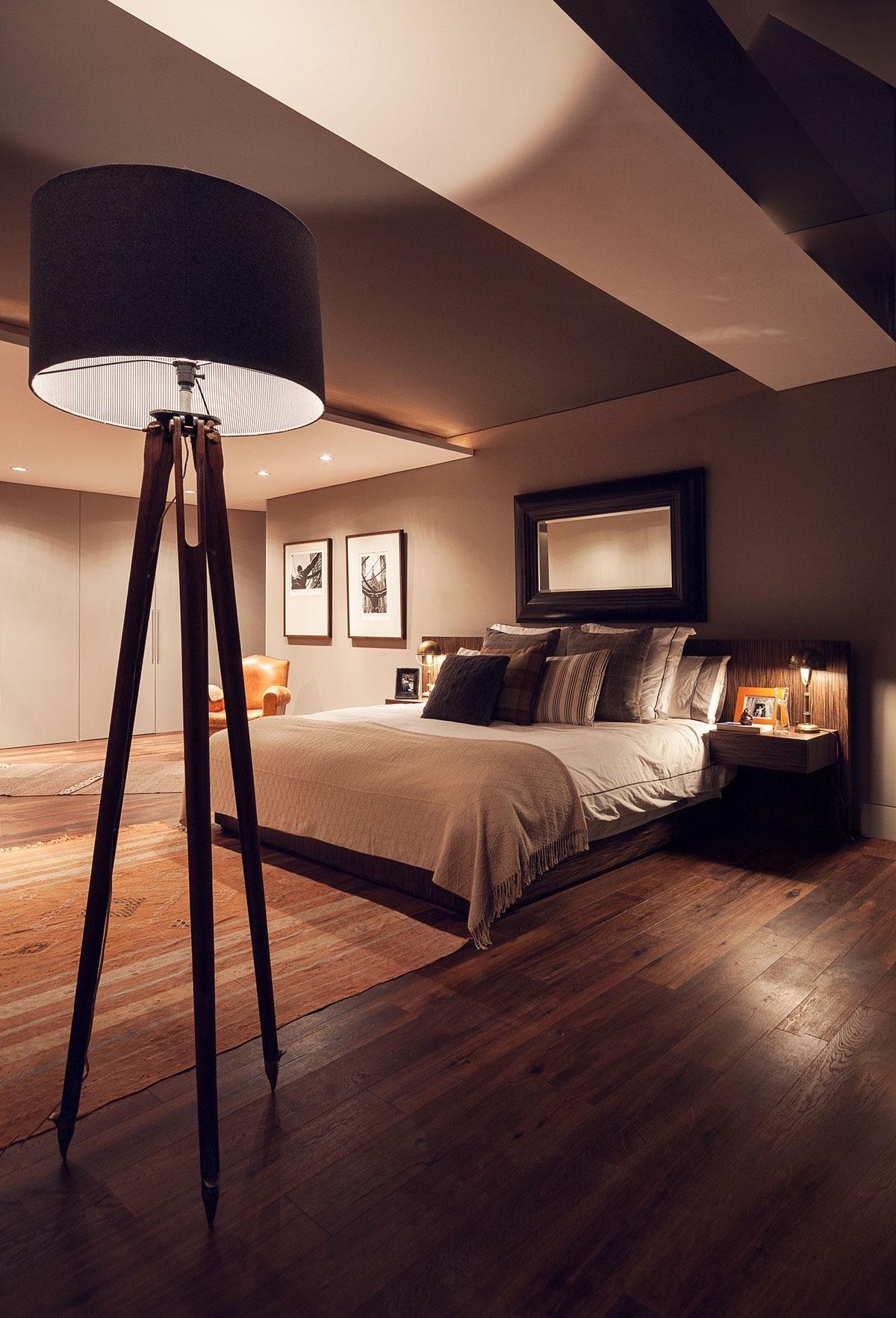 Orange Wood And Grey Bedroom Theme