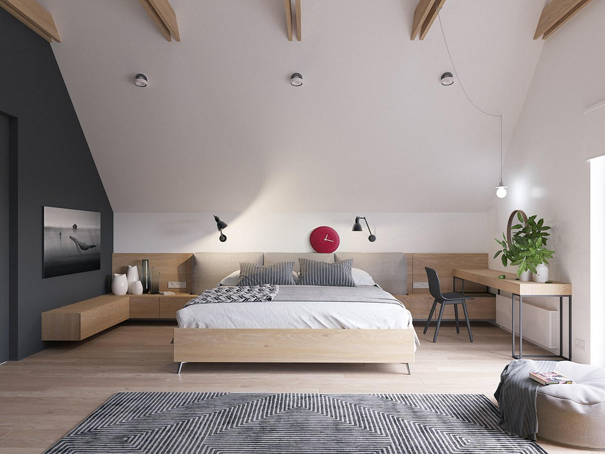 a sleek and surprising interior inspired by scandinavian. Black Bedroom Furniture Sets. Home Design Ideas