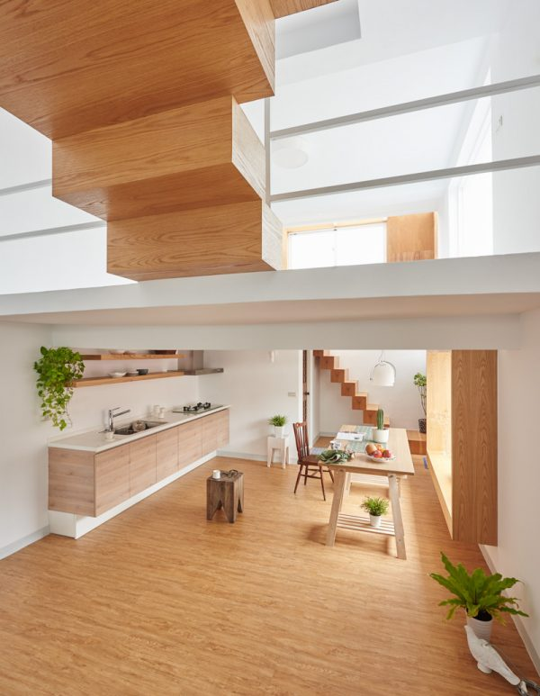 East meets west in this multi storeyed minimalistic home