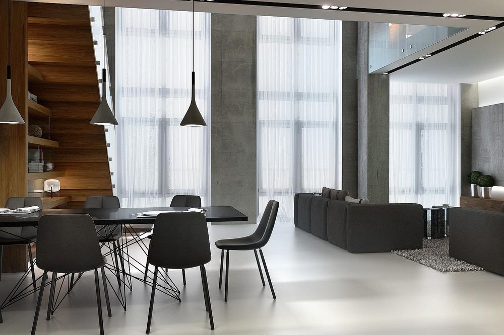 4 large industrial windows