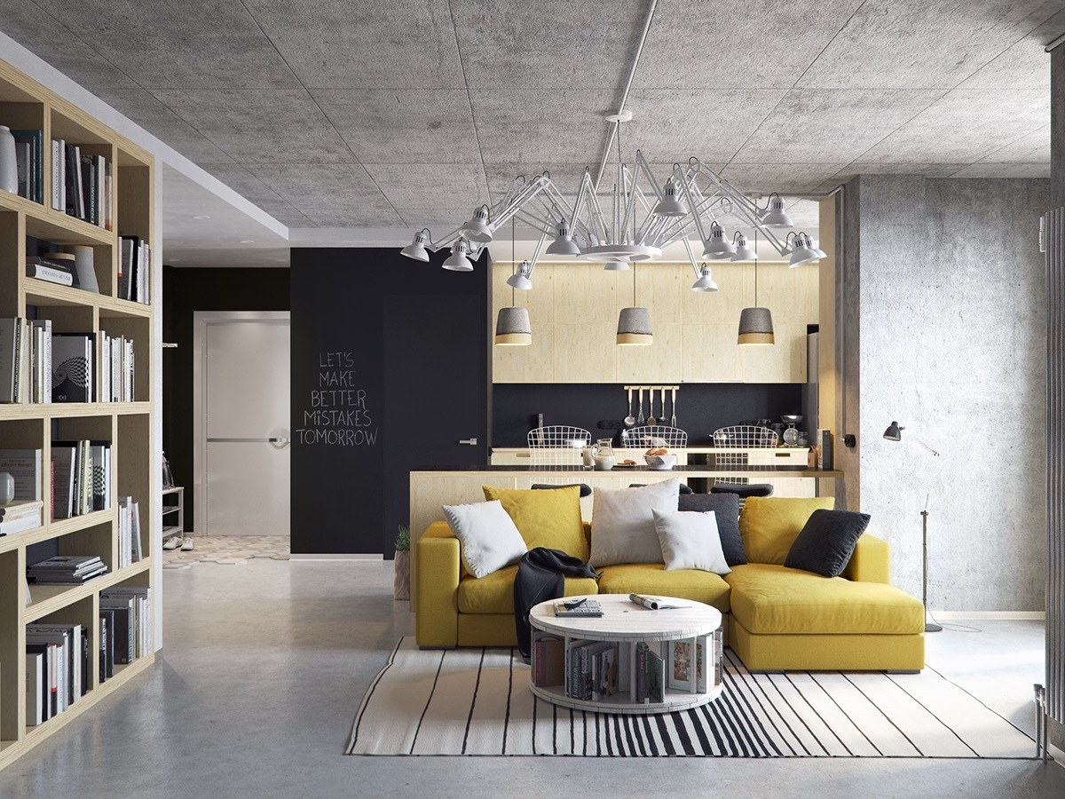 Astounding 3 Concrete Lofts With Wide Open Floor Plans Gmtry Best Dining Table And Chair Ideas Images Gmtryco