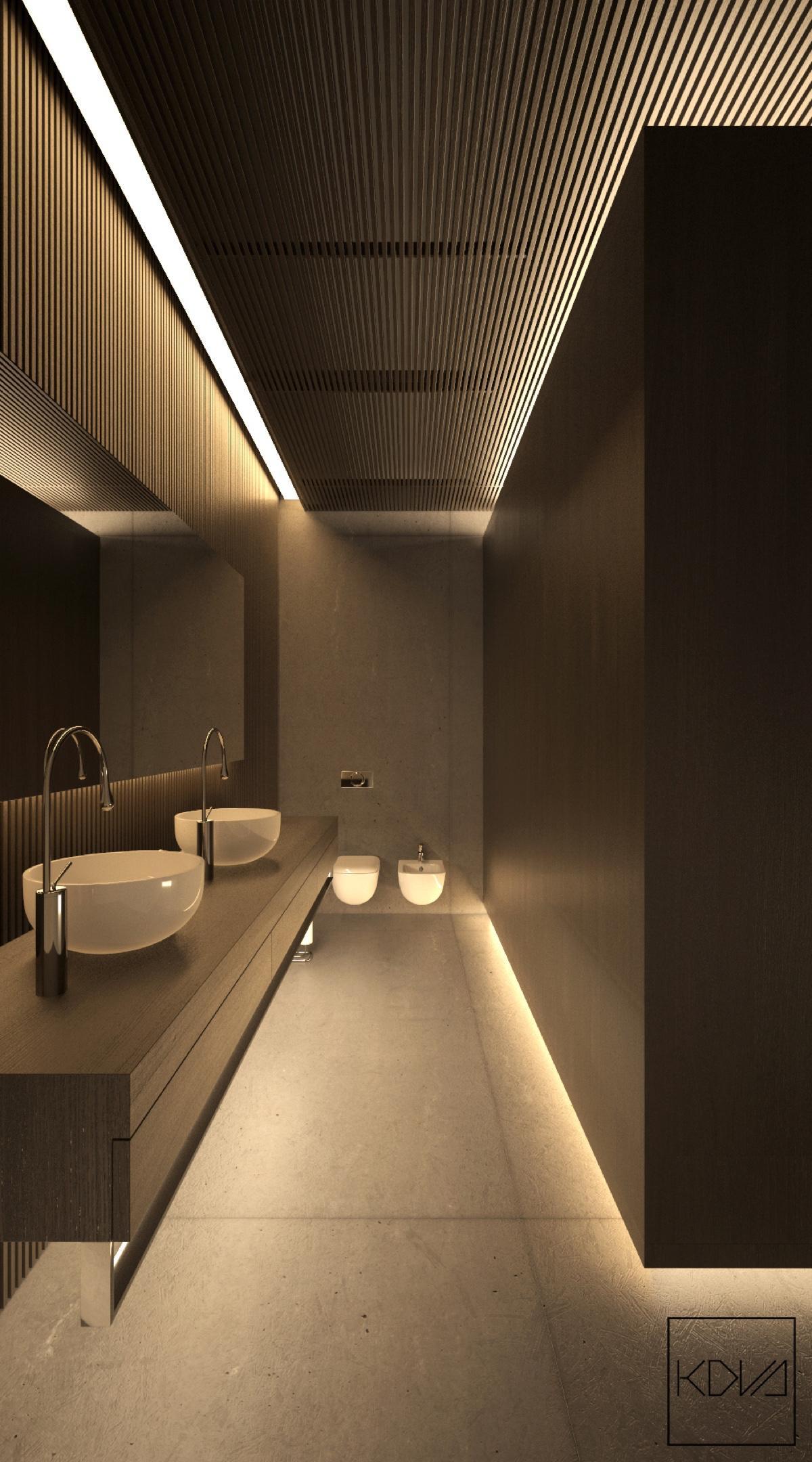 Monochromatic Homes With Modern Lighting