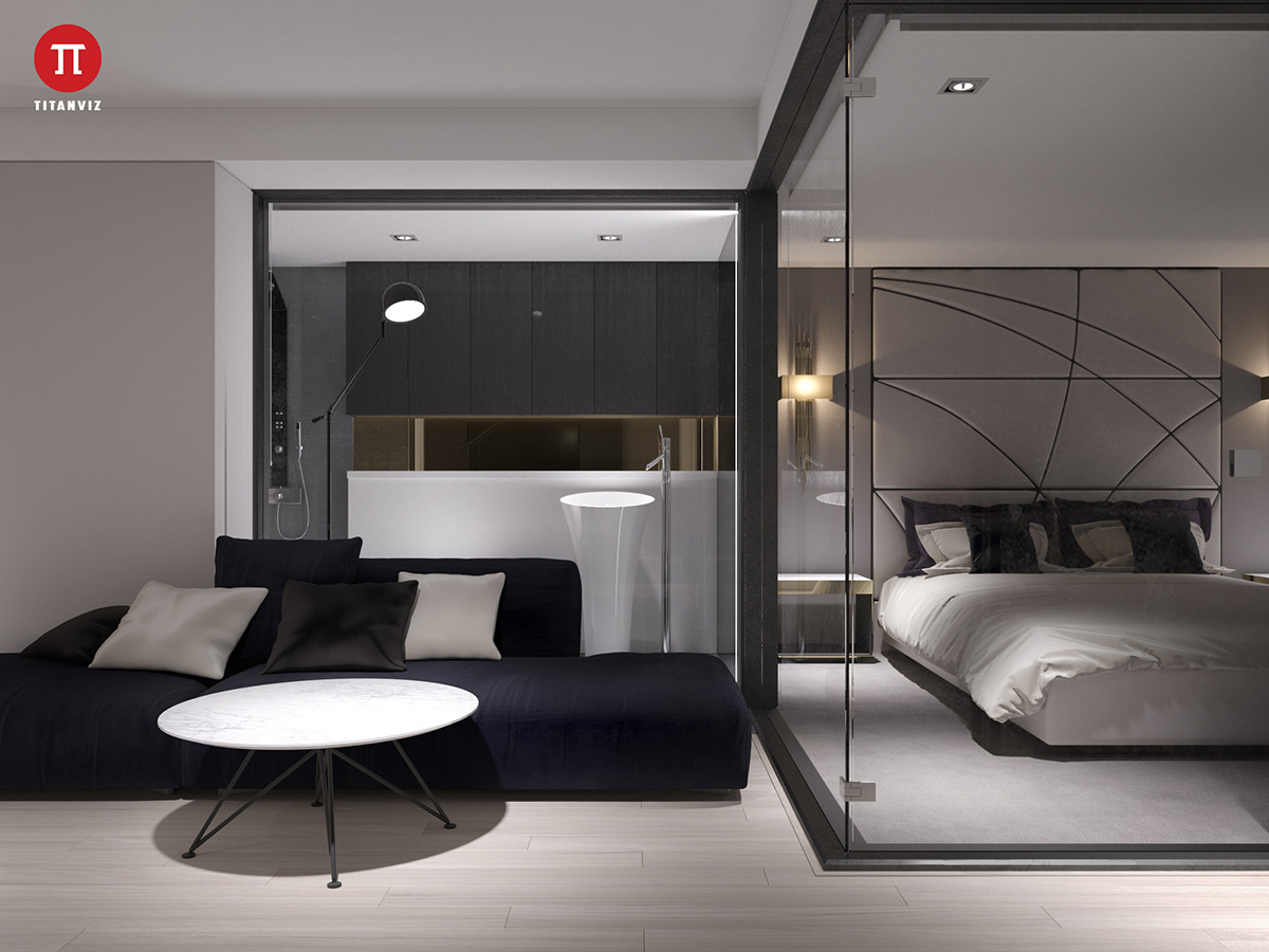 3 Minimalist Monochromatic Homes With Modern Lighting
