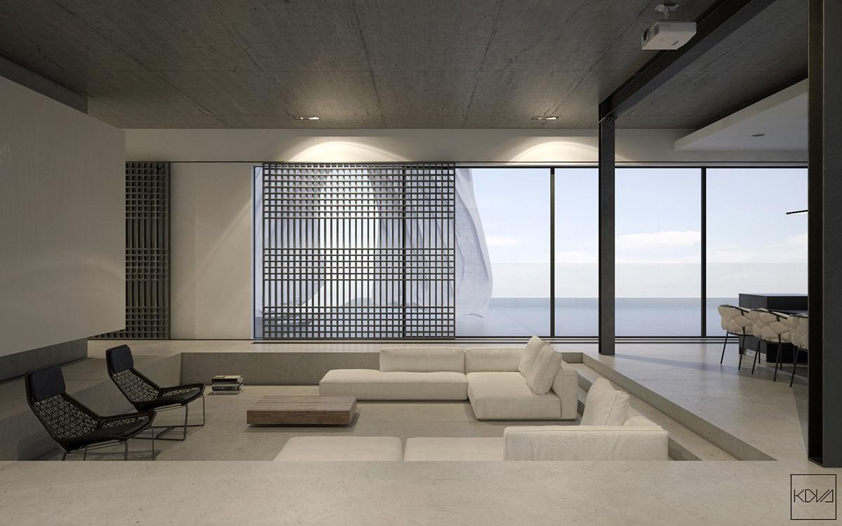 3 Minimalist Monochromatic Homes With Modern Lighting