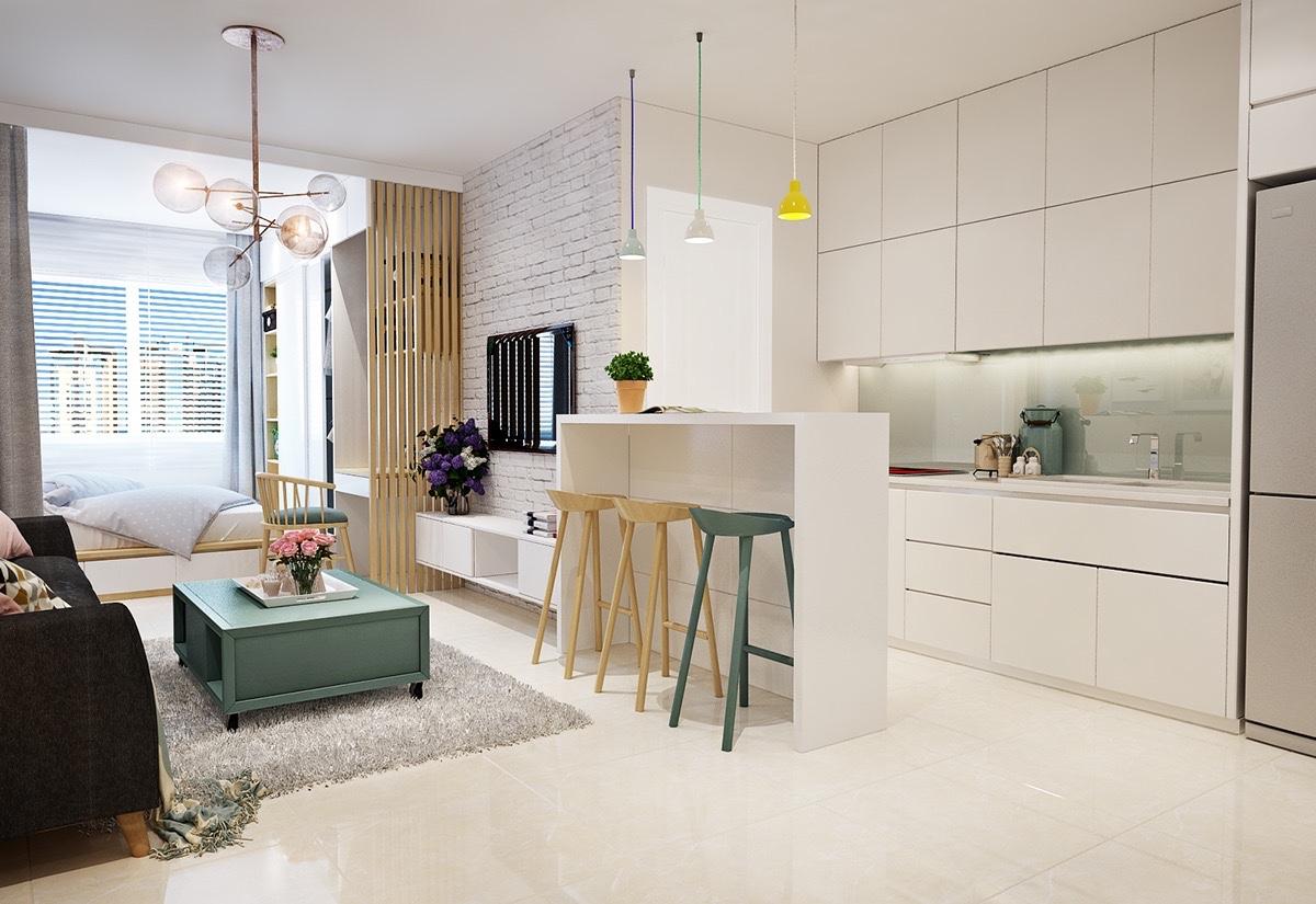 4 single studio apartment designs under 100 square metres. Black Bedroom Furniture Sets. Home Design Ideas