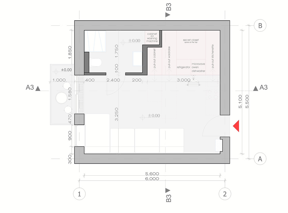 Floor plan with measurements in meters thefloors co for 150 square meters house floor plan