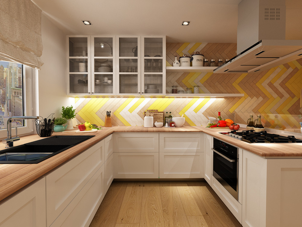 yellow kitchen tile 22 yellow accent kitchens that really shine 1221