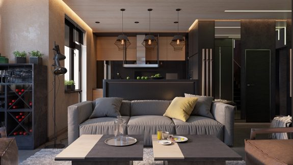 4 dark living rooms with strong personality