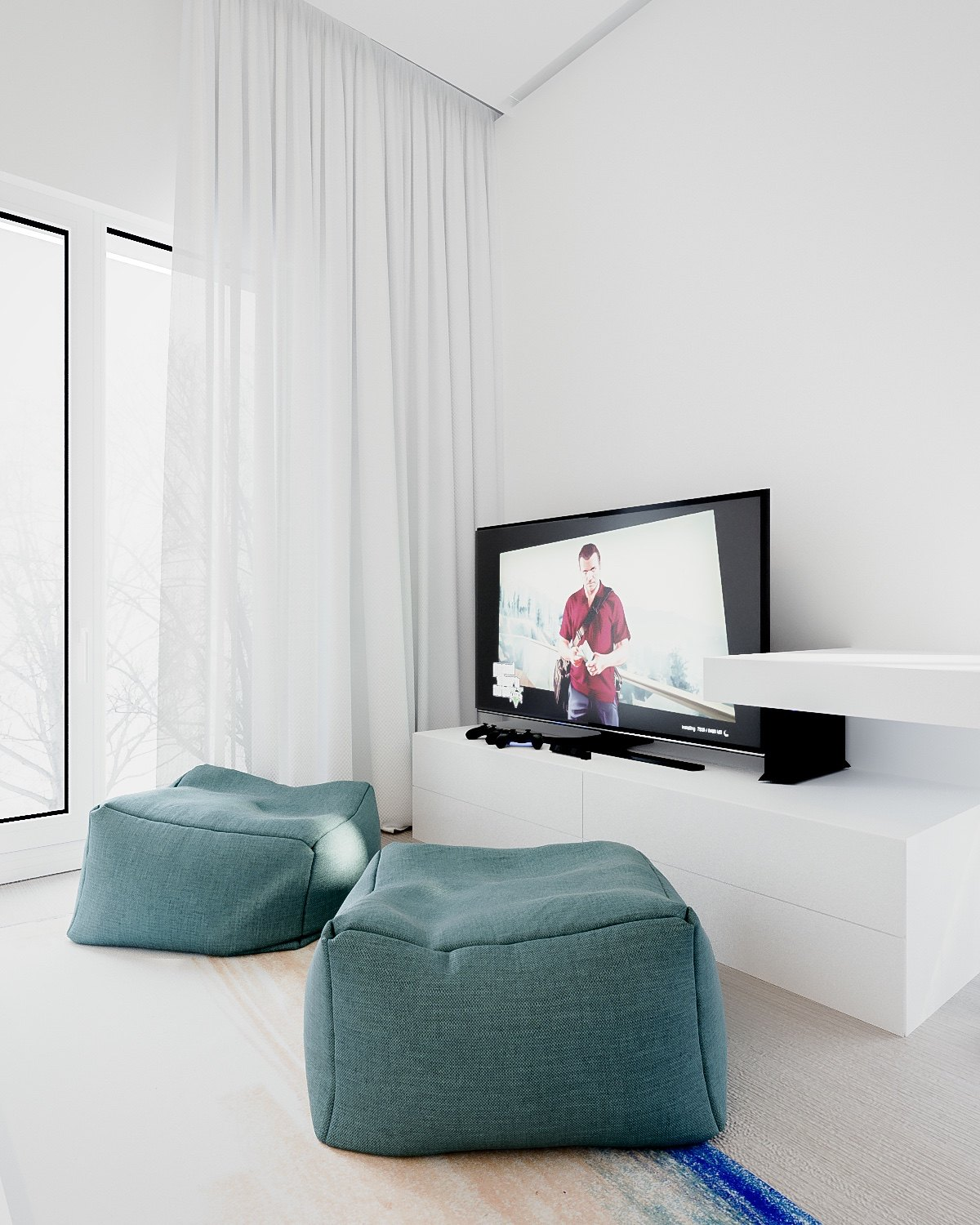 Minimalist Bedroom: A Minimalist Family Home With A Bright Bedroom For The Kids
