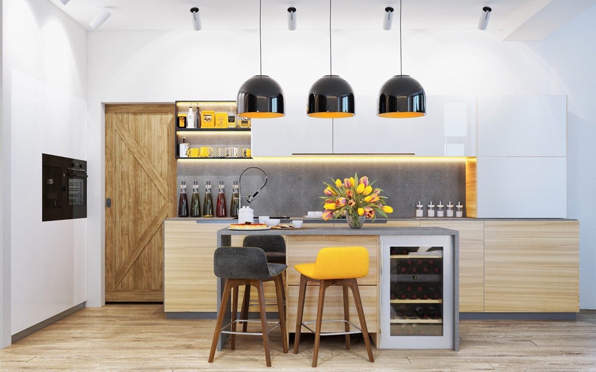 22 Yellow Accent Kitchens That Really Shine on martha stewart yellow kitchens, house beautiful yellow kitchens, southern living yellow kitchens, diy yellow kitchens, hgtv rustic country kitchen, hgtv bathroom design, ikea yellow kitchens, houzz yellow kitchens,