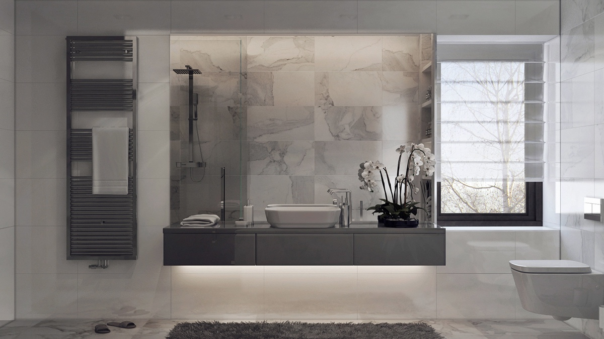 Modern Cabinet 10 Inspiring Modern And Luxury Bathrooms: Inspiring Examples Of Use Of Grey In Luxury Interior Design