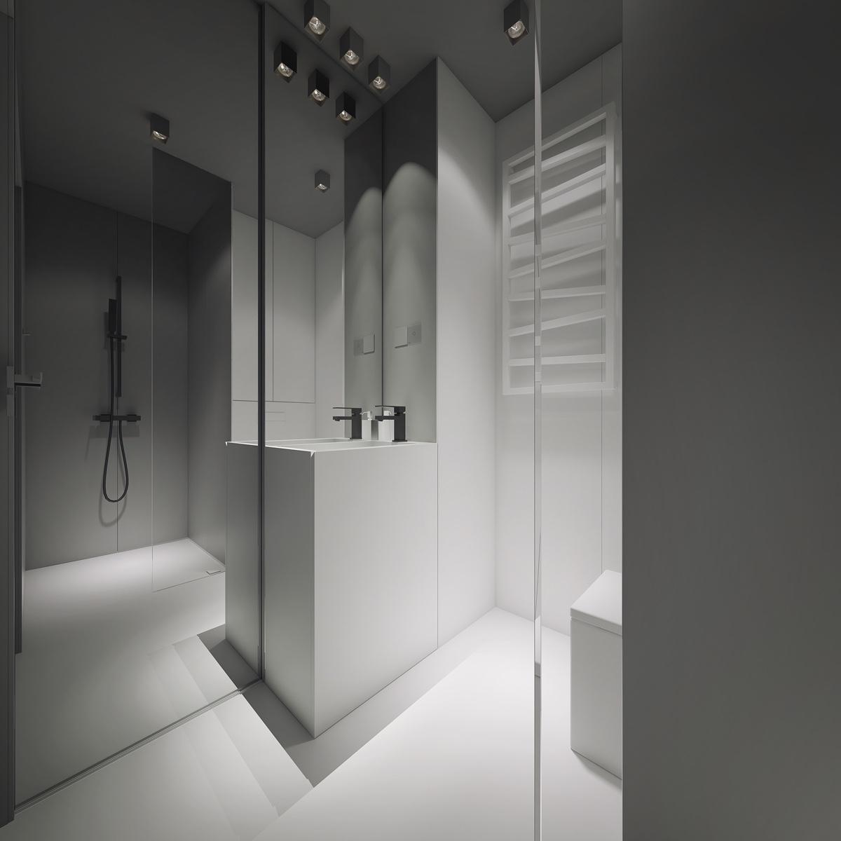 astounding calming modern minimalist bathroom white | 3 Light, White and Minimalist Homes Inspiring Clarity of ...