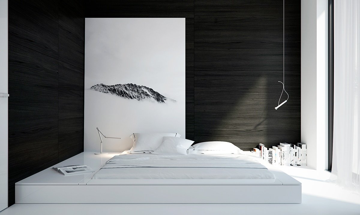 black and white interior design bedroom 2.  40 Beautiful Black White Bedroom Designs