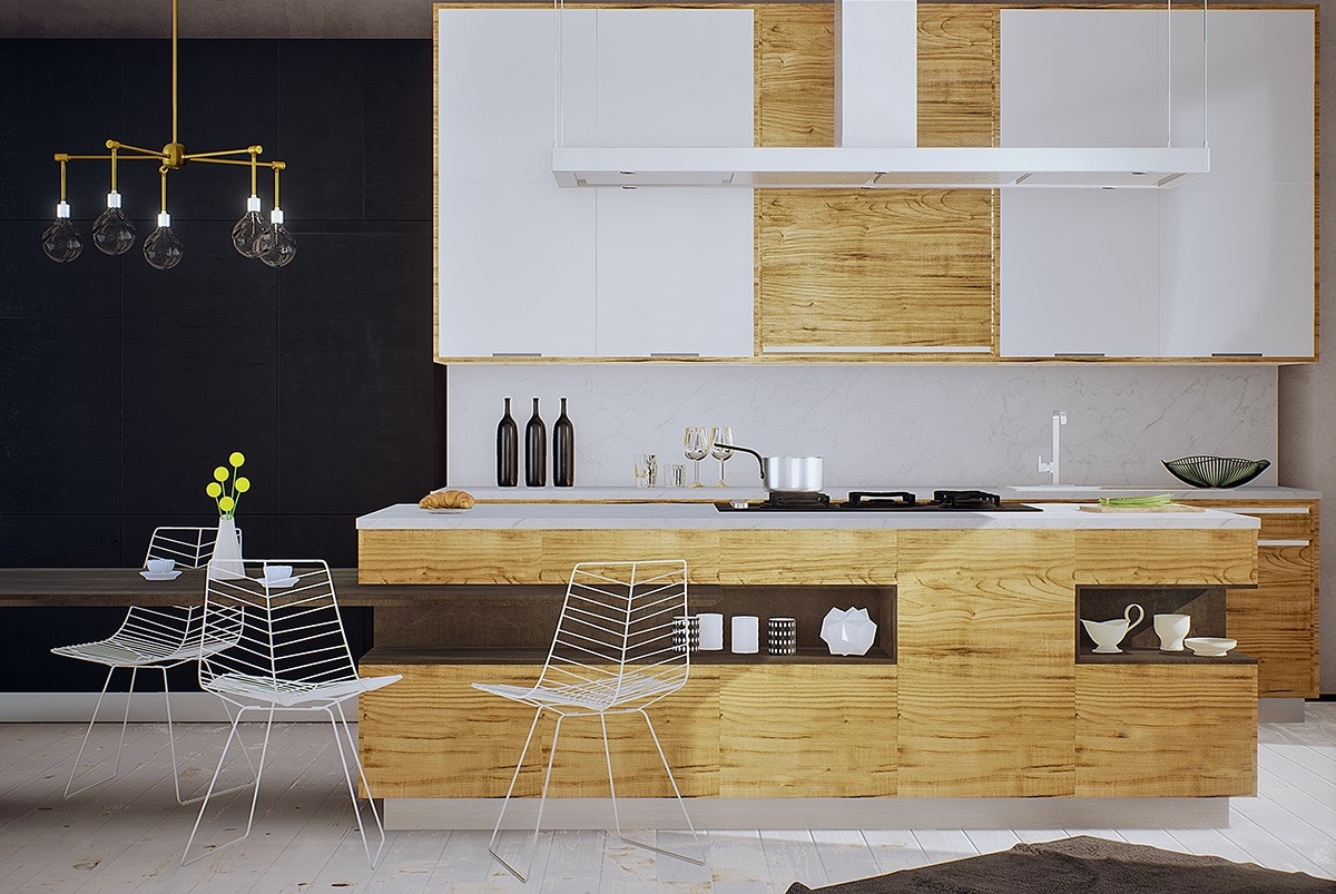 8 Modern Kitchen Designs That Use Unconventional Geometry