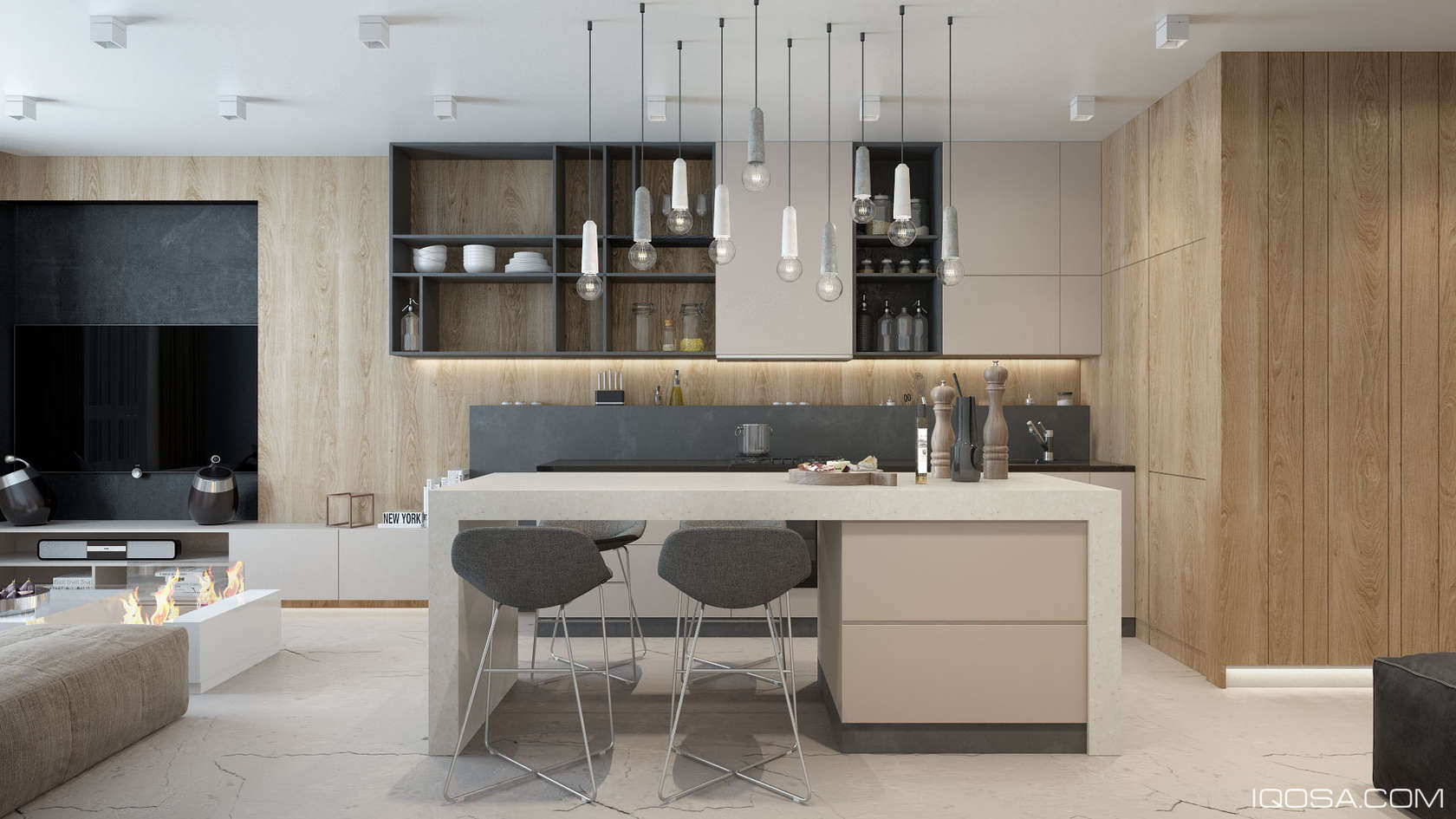 Kitchen Cabinet Faces 50 Modern Kitchen Designs That Use Unconventional Geometry