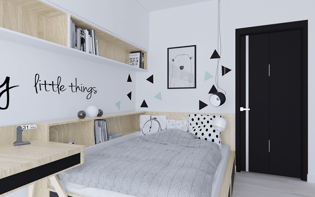 11 Beautiful Black & White Bedroom Designs
