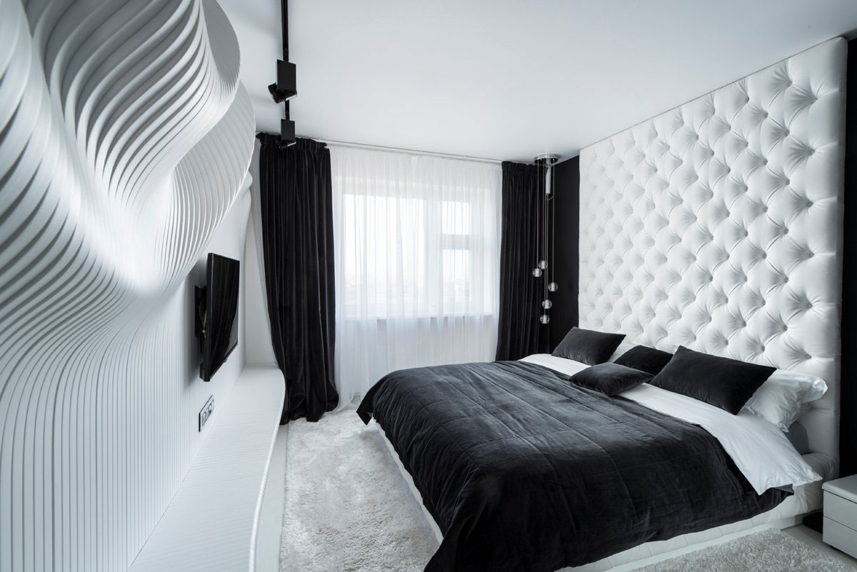 40 beautiful black white bedroom designs 19240 | kaleidoscopic bedroom black and white